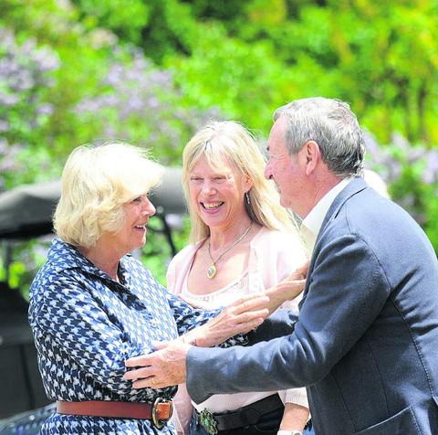 The Duchess of Cornwall with Nick and Annette Mason at last year's Middlewick event