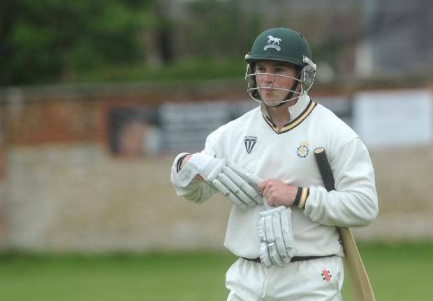Ed Kilbee was still at the crease for Wiltshire