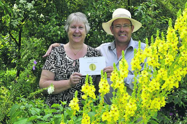 Mary and Terry Baker, of The Botanic Nursery in Atworth