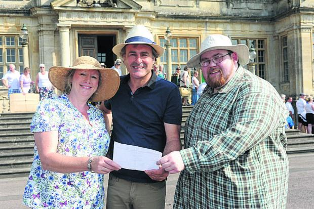 Paul Martin with fellow Flog It! valuers Claire Rawle and Michael Baggott at Longleat