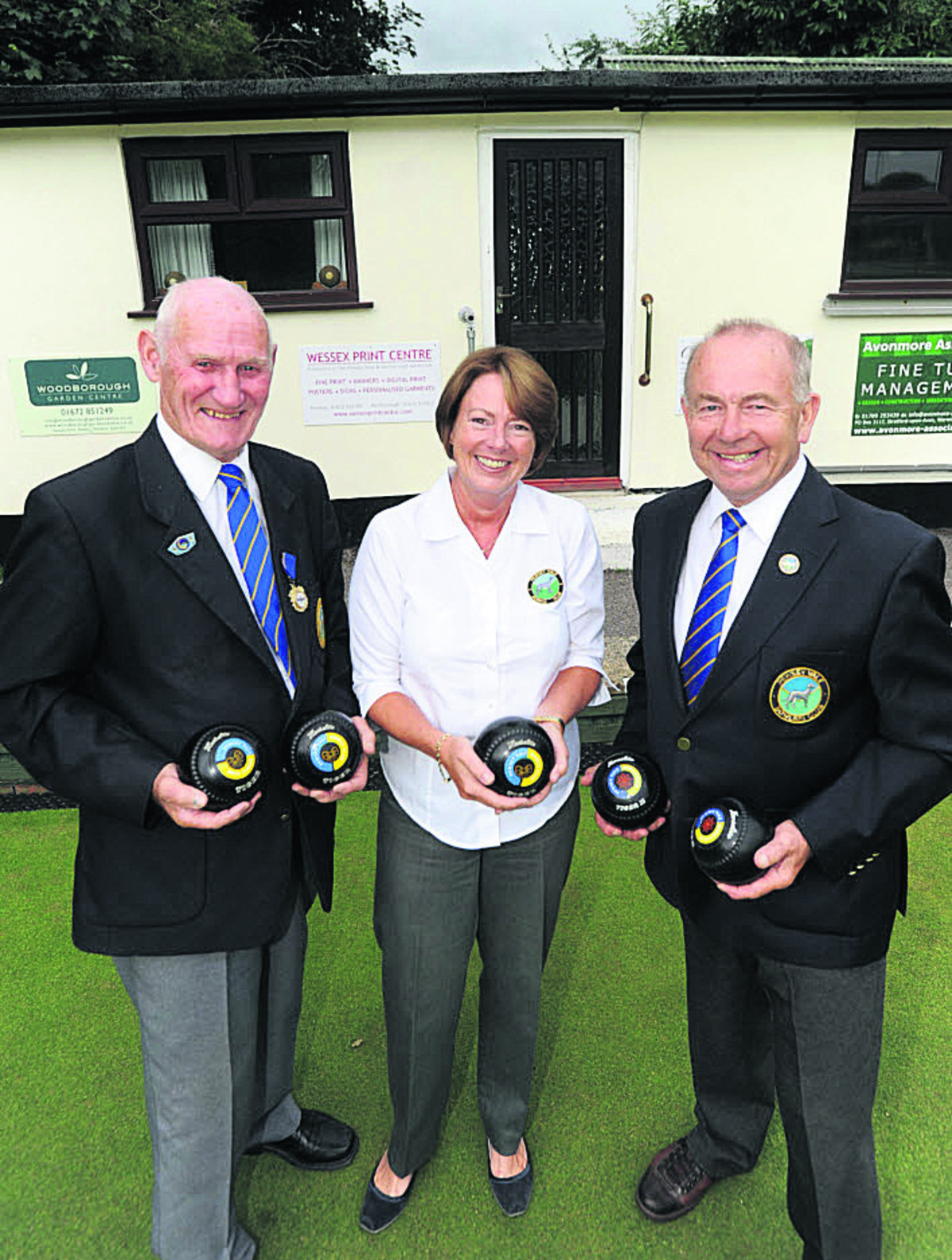 Pewsey Bowls Club president Don Andrews, ladies' captain and project manager Caroline Sprott and chairman of the house John Stephens last year