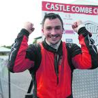 Wiltshire Times: Adam Higgins celebrates his crucial second place