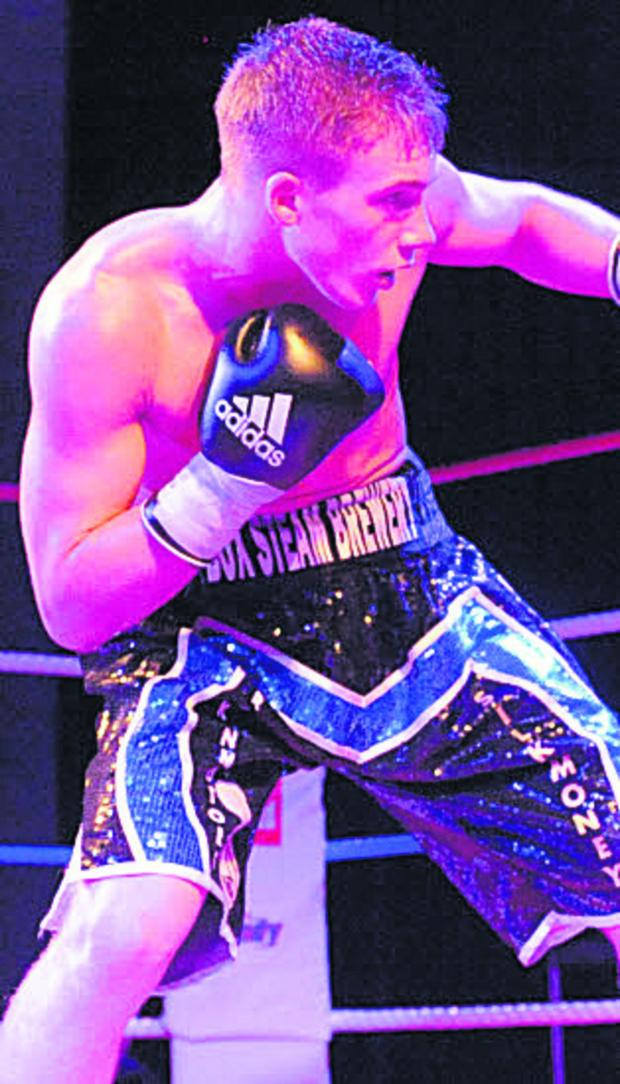 Wiltshire Times: Nick Blackwell was in fine form against Terry Carruthers last night