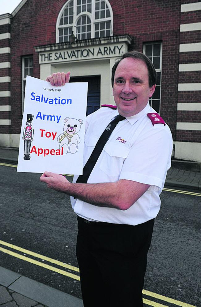 Salvation Army Major Kelvin Lang launches the annual  Christmas Toy Appeal