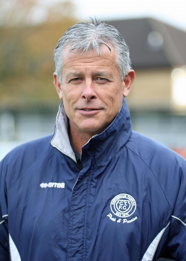 Wiltshire Times: Chippenham Town manager Mark Collier