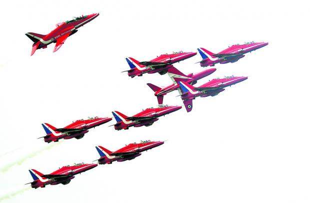 The Red Arrows are marking their 50th display season