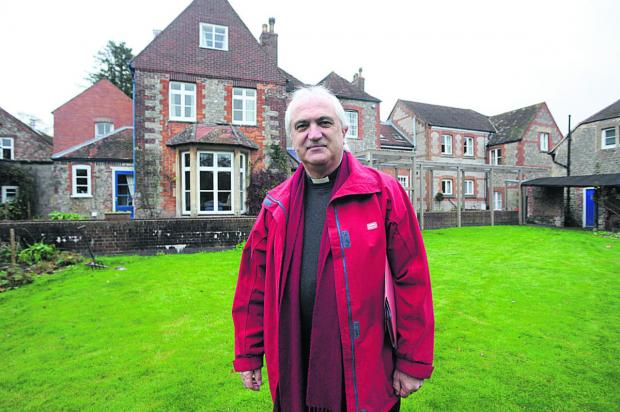 Wiltshire Times: Canon Harold Stephens at Ivy House, Warminster