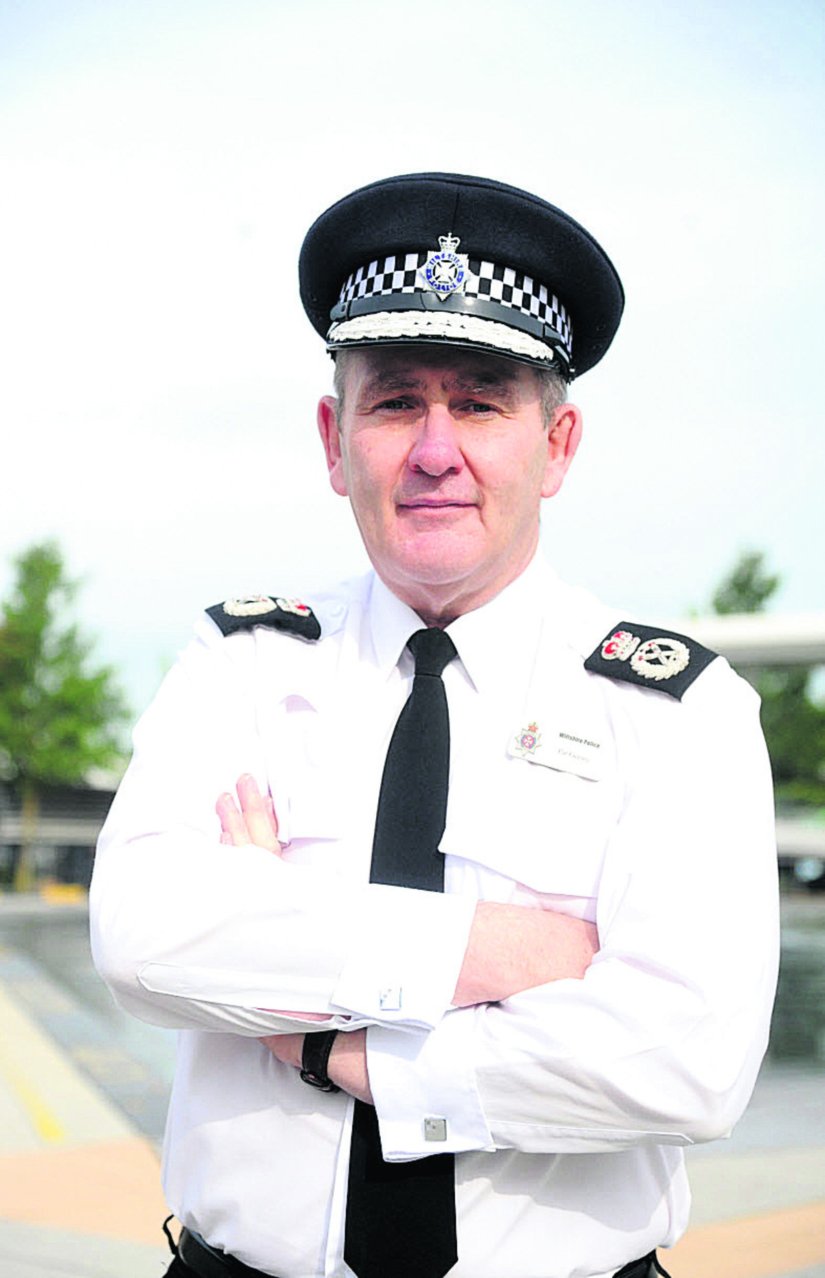 Chief Constable Patrick Geenty chased a shoplifter in Chippenham today