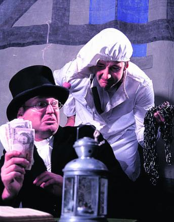 Will wailing ghosts make Scrooge part with his cash?