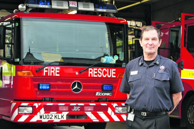 Wiltshire Times: Chief fire officer Simon Routh-Jones