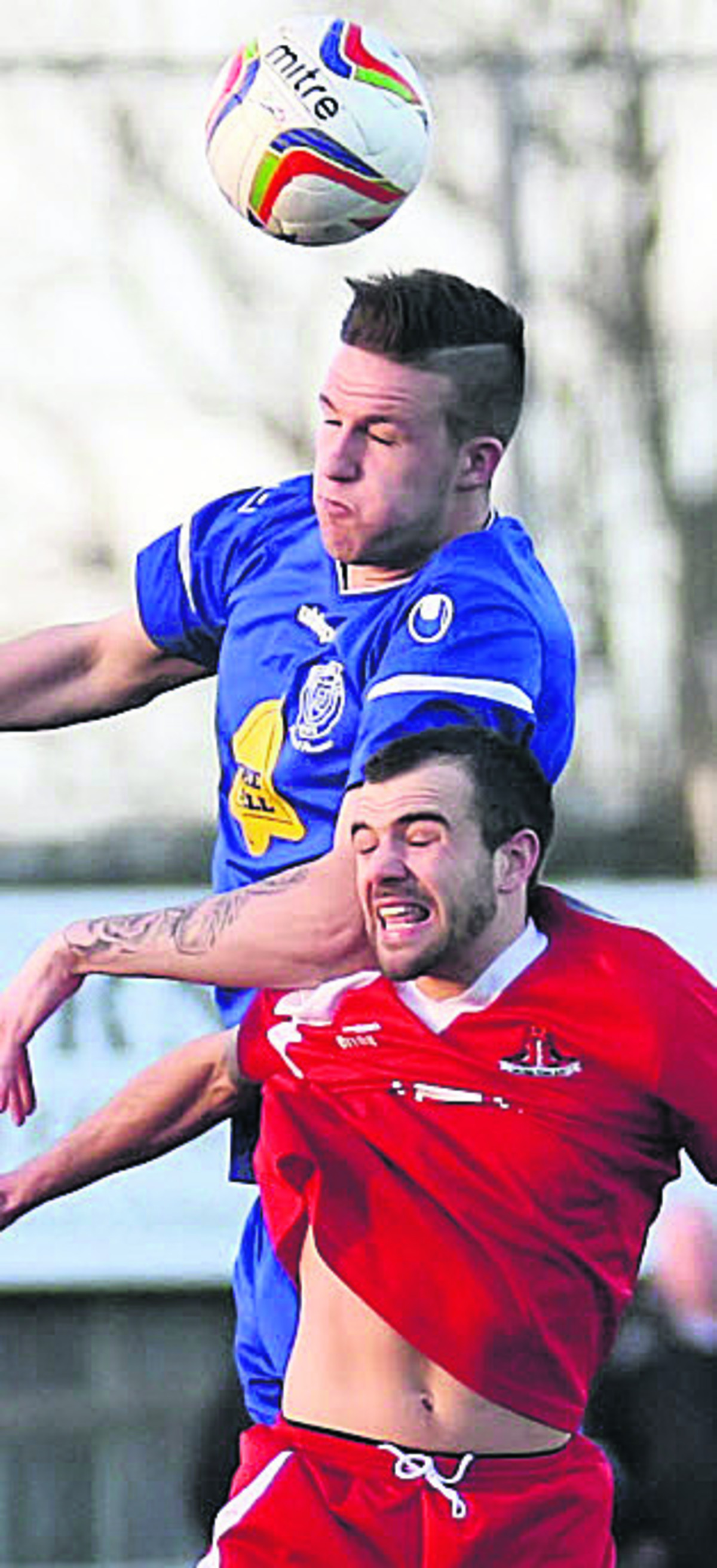 Aaron Oakley, pictured playing for Chippenham Town against Frome Town last season, has signed for the Robins