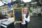 Roy Hayward, owner of the Bridge Tea Rooms which reopened on Monday