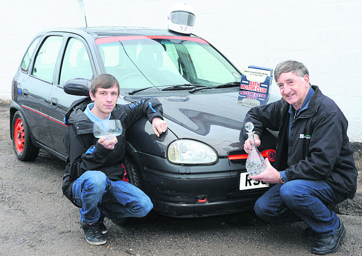 Autotest champion Ray Sissins, with 16-year-old grandson Conner