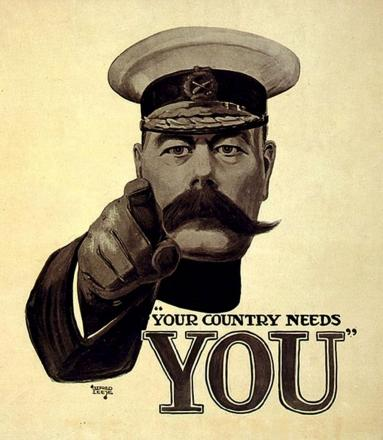 The famous First World War poster depicting Lord Kitchener