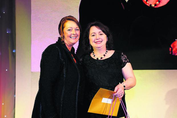 Debbie White, left, Sodexo UK and Ireland chief executive, with Nicole Owen