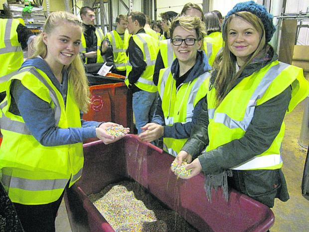 St Laurence School pupils on a tour of Leafield's site in Corsham