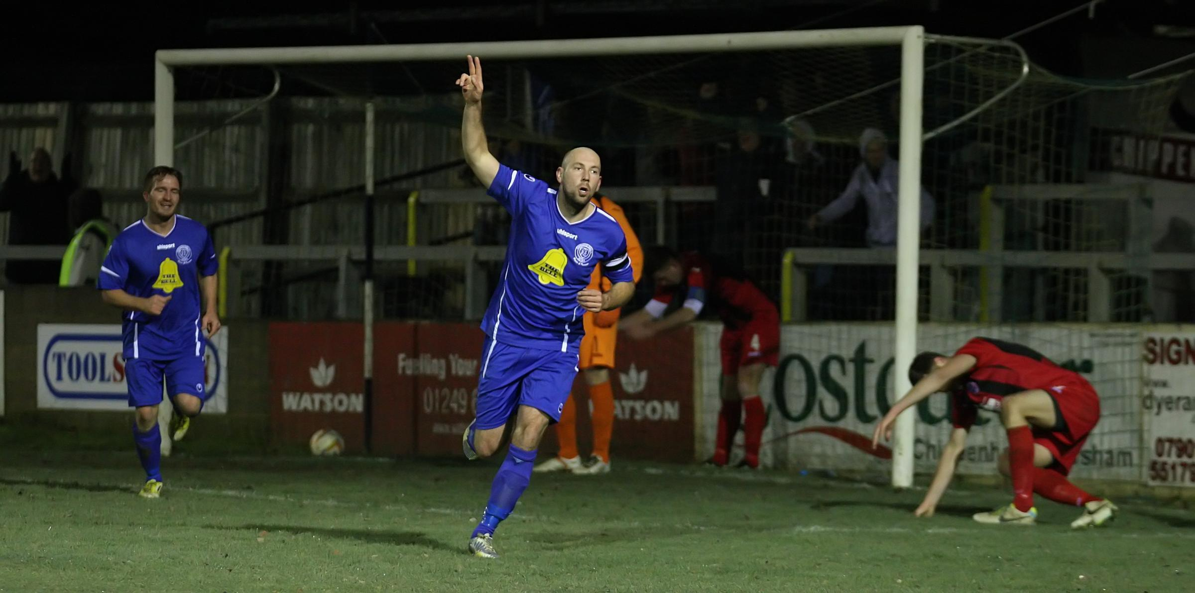 Alan Griffin is set to return when Chippenham Town take on Arlesey Town tonight