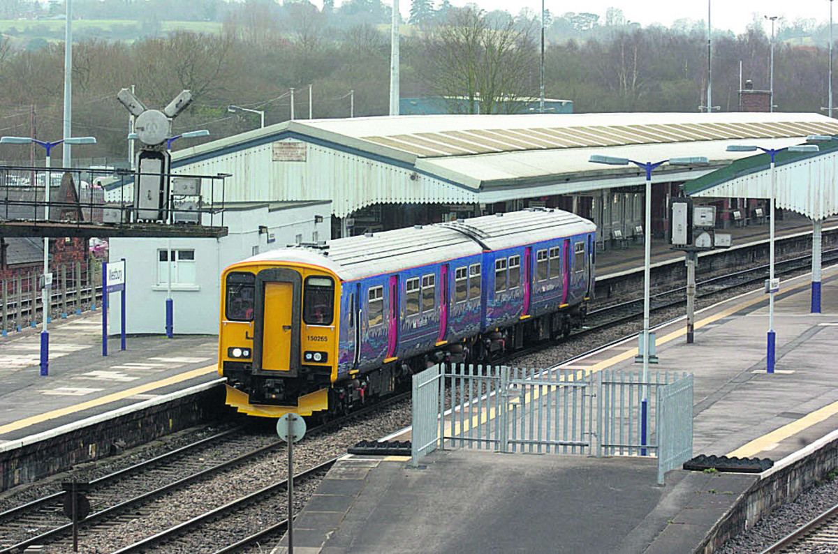 Buses were running between Westbury rail station and Trowbridge after the line was closed following the in