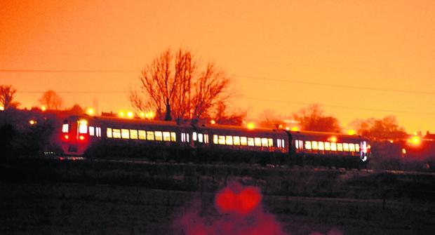 The train halted near Yarnbrook last night after the incident