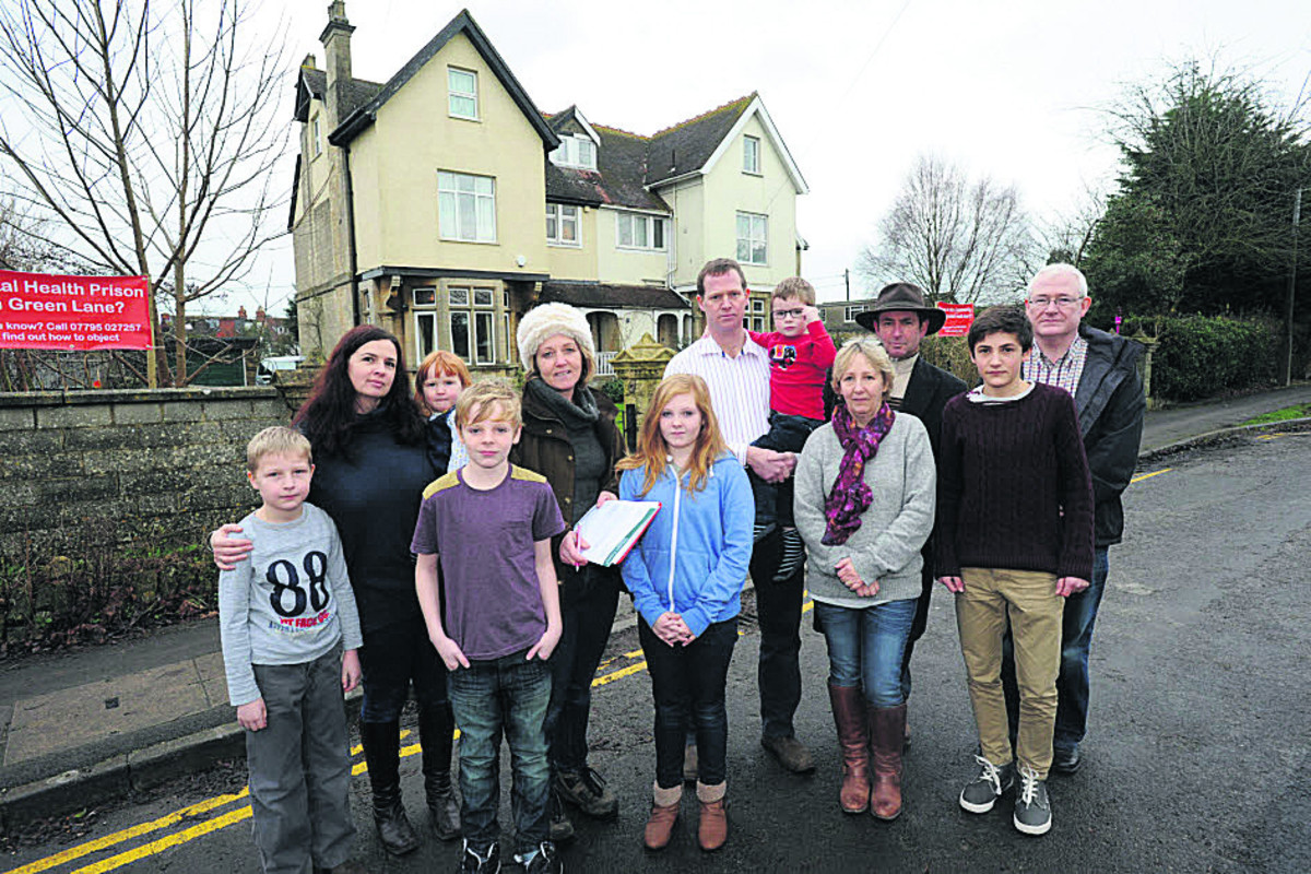 Green Lane residents close to the  former care home that they  fear will become a bail hostel