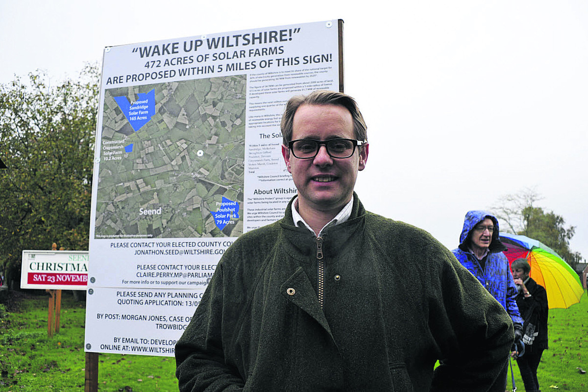 Jack Churchill, of the Seend-based protest group Wiltshire Protect