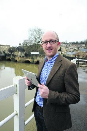 Tom Vaughton's company has been monitoring river levels in Bradford with a web camera