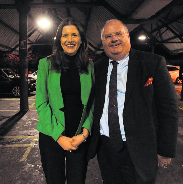 Wiltshire Times: Communities secretary Eric Pickles with Michelle Donelan in the town's Bath Road Car Park