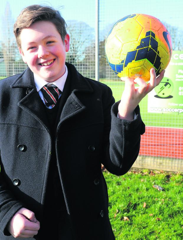Wiltshire Times: Kieran won the award for Best Young Volunteer