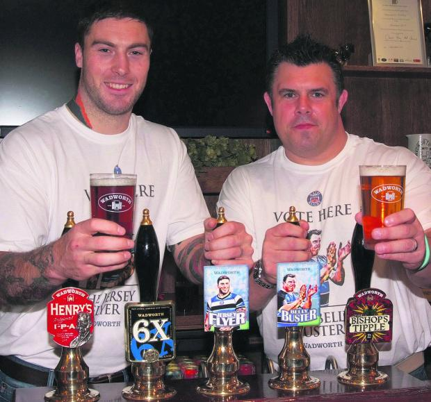 Wiltshire Times: Bath Rugby winger Matt Banahan and former prop Duncan Bell have each helped create beers by Devizes brewer Wadworth