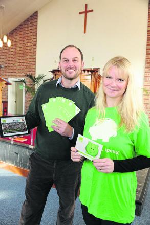 North Bradley Baptist Church pastor Ben Midgley with Catherine Haddow, who will be running the money advice course