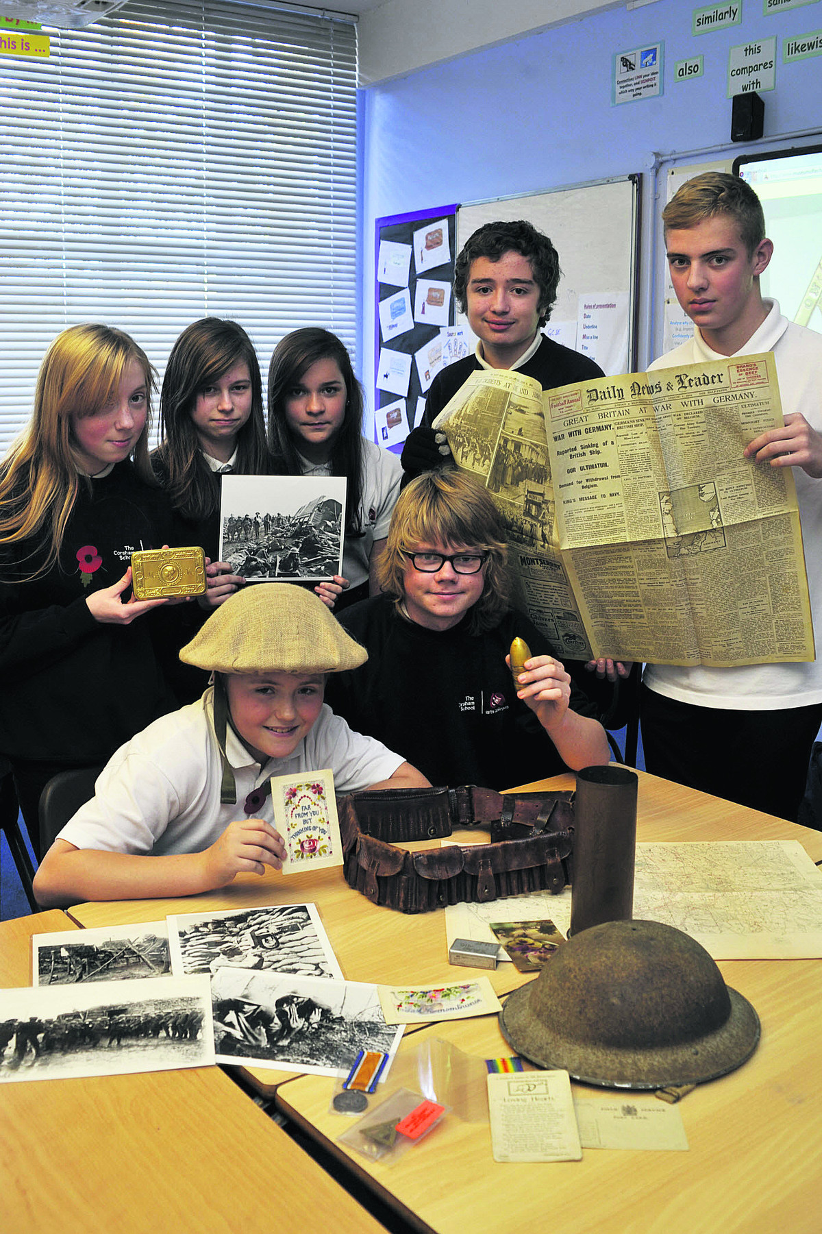 Corsham School learn about the First World War