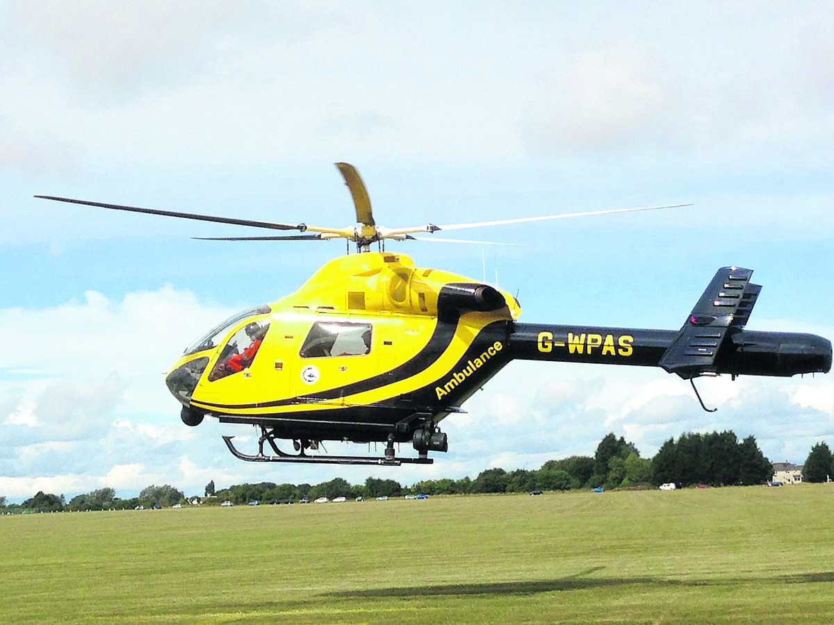 Police condemn shining of laser at Wiltshire Air Ambulance in Devizes
