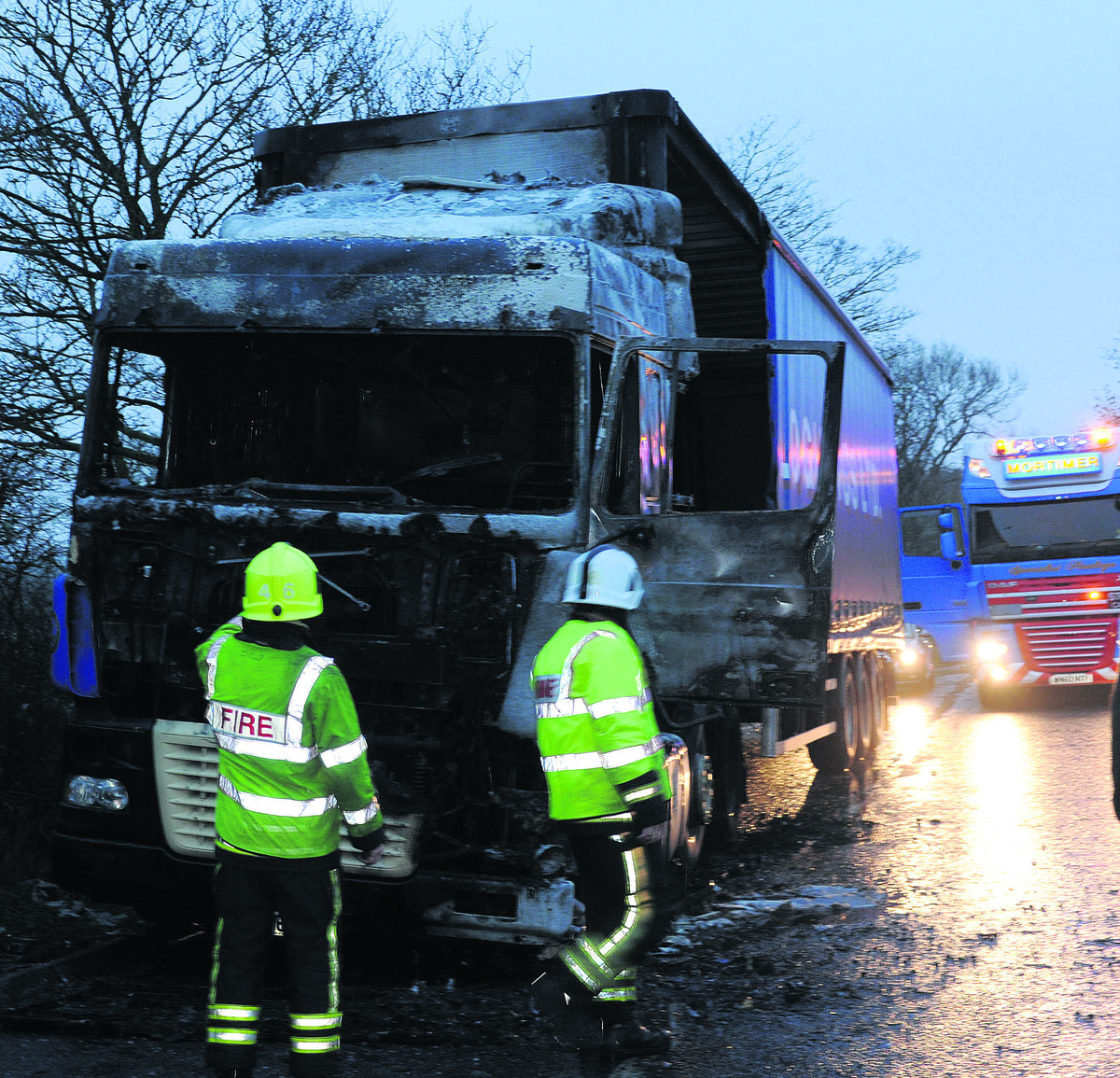 Delays after Seend fork lorry fire