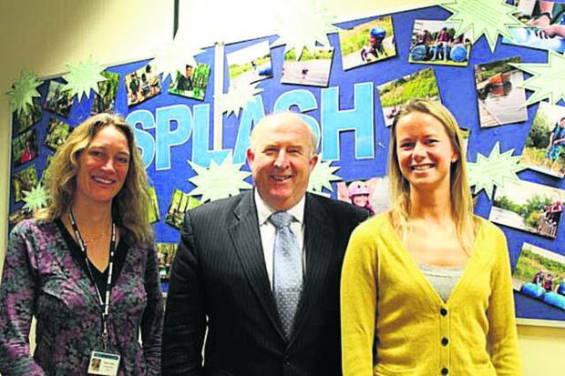 Police and Crime Commissioner for Wiltshire and Swindon Angus Macpherson with Mel Bradley, left, fundraiser for Wiltshire children's charity Splash, and volunteer co-ordinator Corinna Cuff