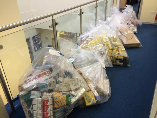 The illegal tobacco seized from a Melksham address