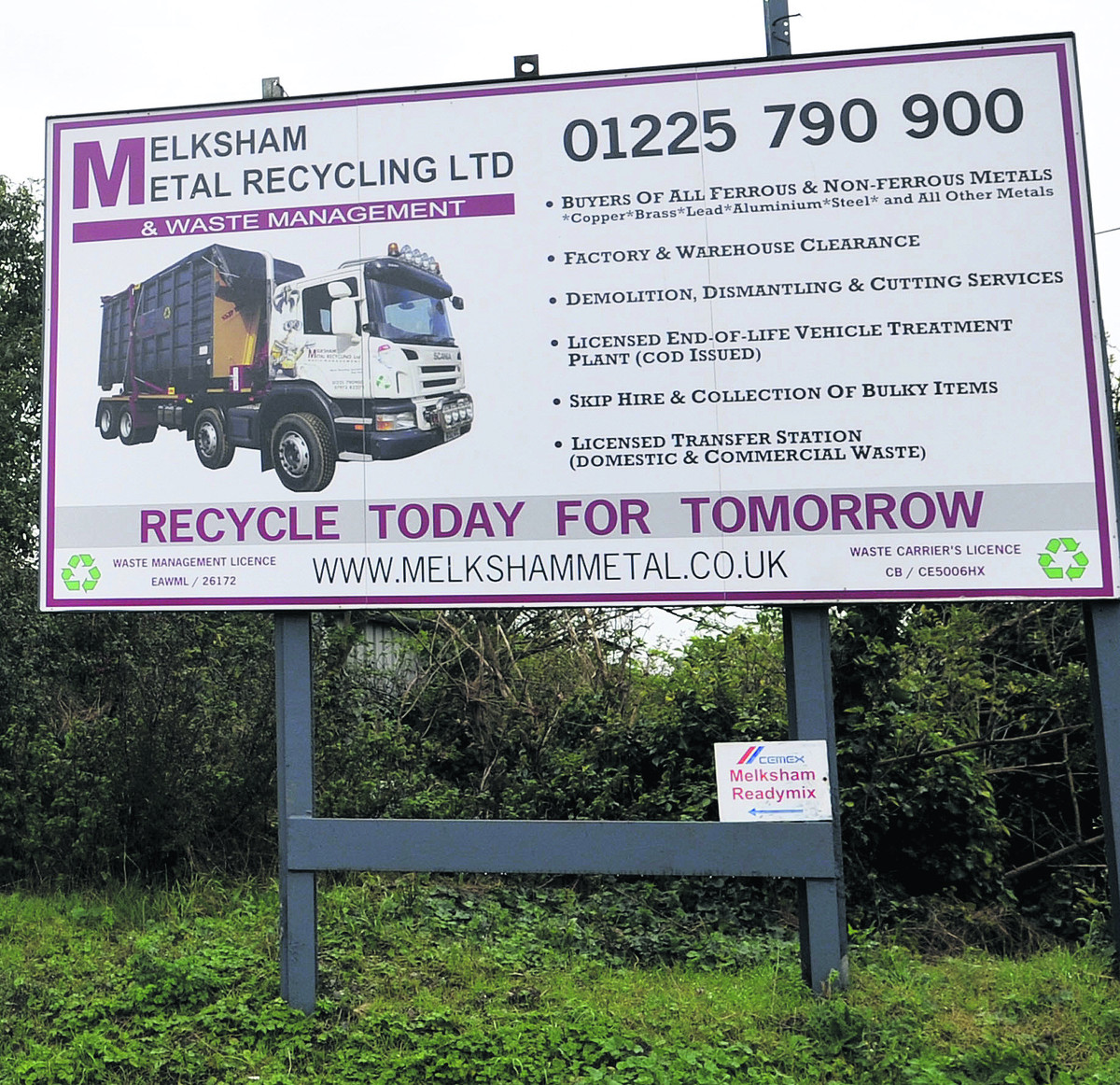 Melksham Metal Recycling's premises
