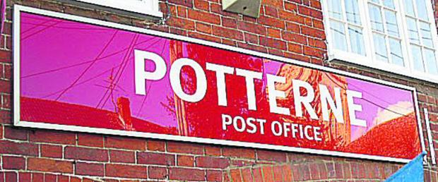Two teenagers were arrested after a suspected attempted armed robbery at Potterne Post Office