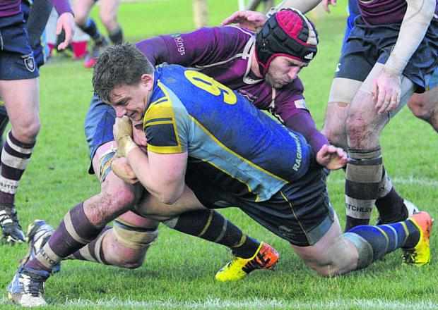 Kyle Knight was a try scorer for Trowbridge