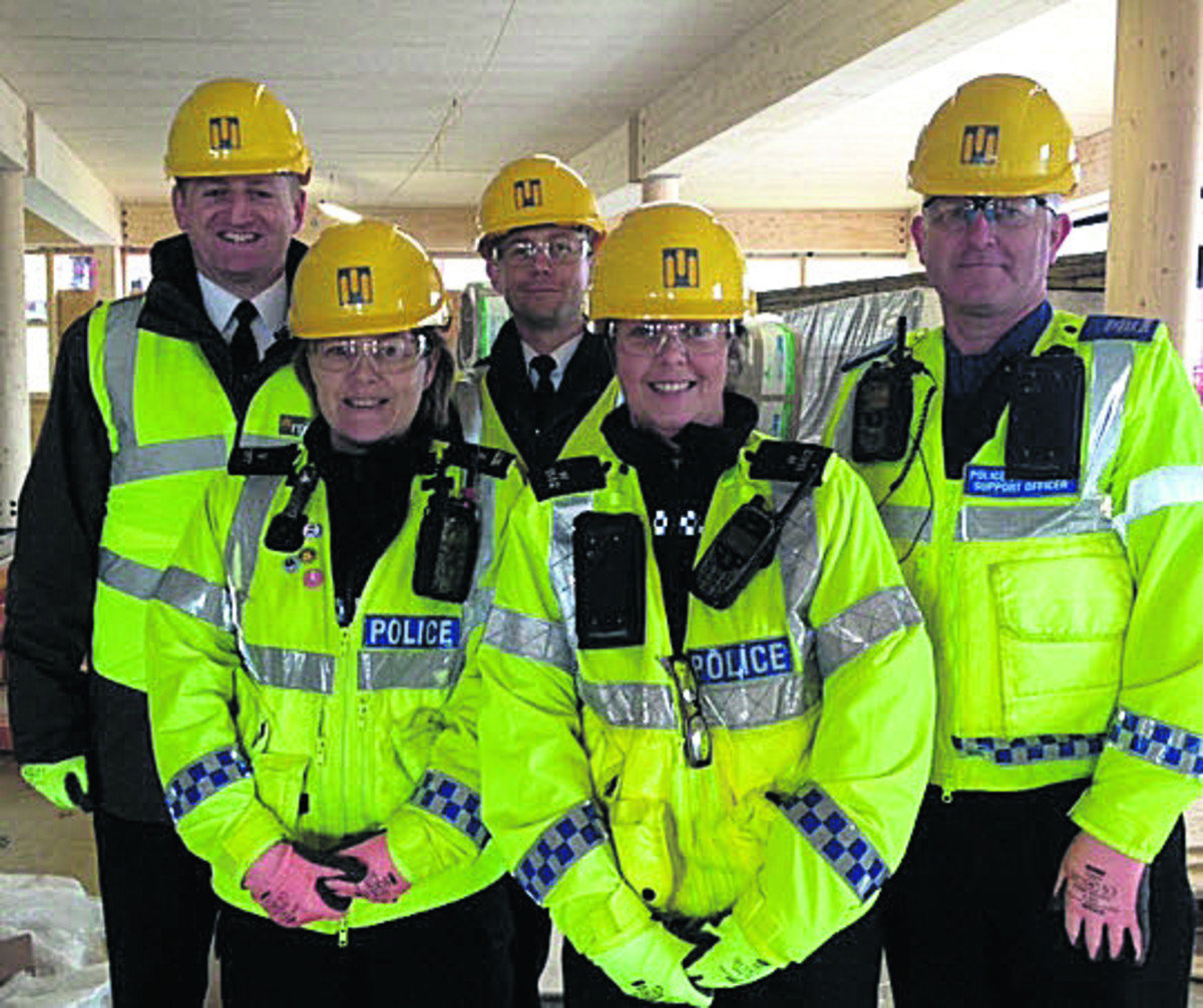 Corsham Neighbourhood Policing Team during a visit to the town's campus site