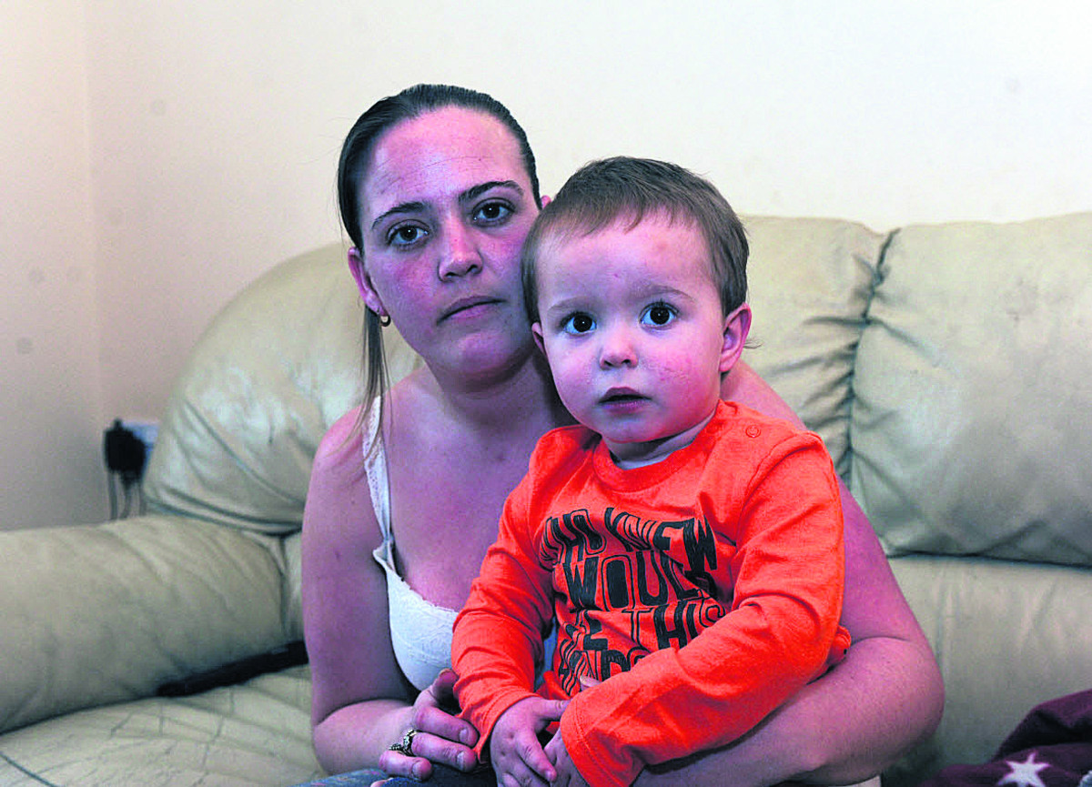 Clare Hudd, who was robbed at knifepoint while her son Troy slept on the bed beside her	              							        Photo: Trevor Porter (48306)