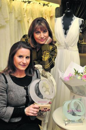 Lucy Hayward-Rodgers and Carina Baverstock of Carina Baverstock Couture have won a national award                                             Photo: Glenn Phillips (48079)