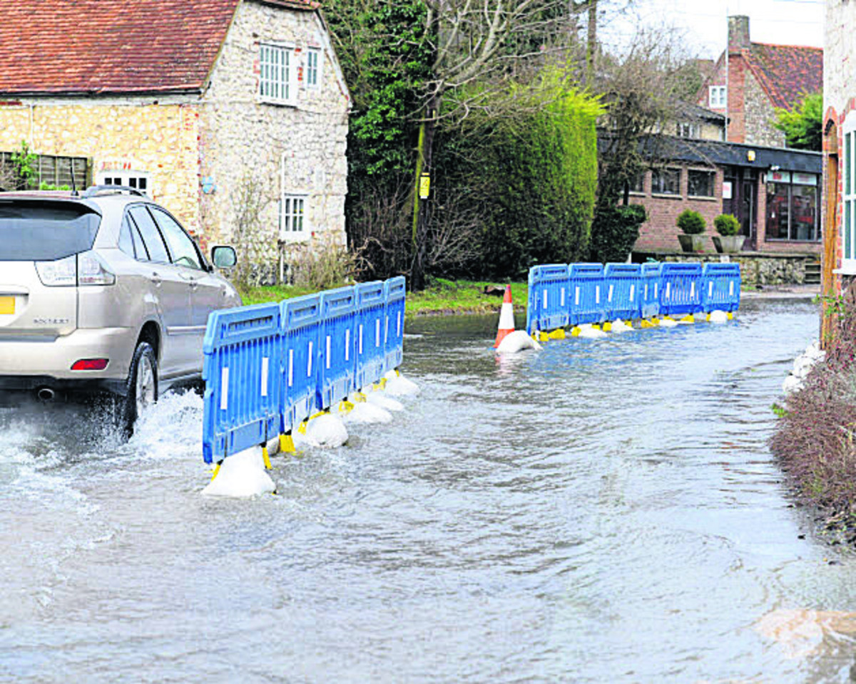Aldbourne was one of the places hit by floods last winter
