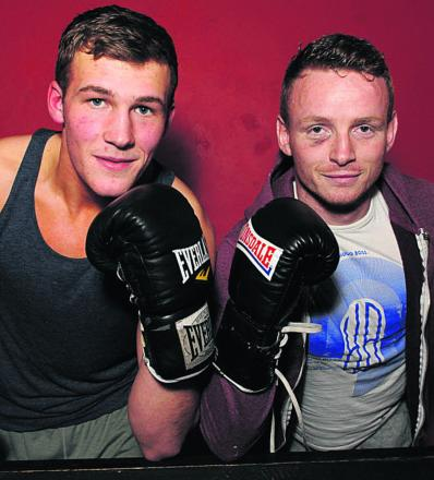 Dan Blackwell (left) and Dan Carr, pictured at the Contender Gym this week, have been nominated for a prize at the Southern Area awards