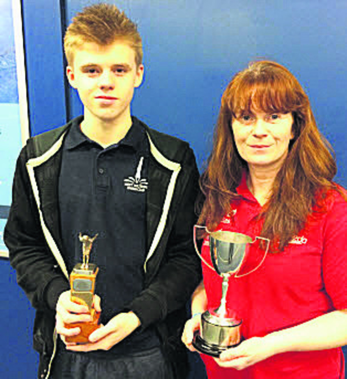 West Wilts Diving Club's Finn Aubrey and Melanie Sweetman