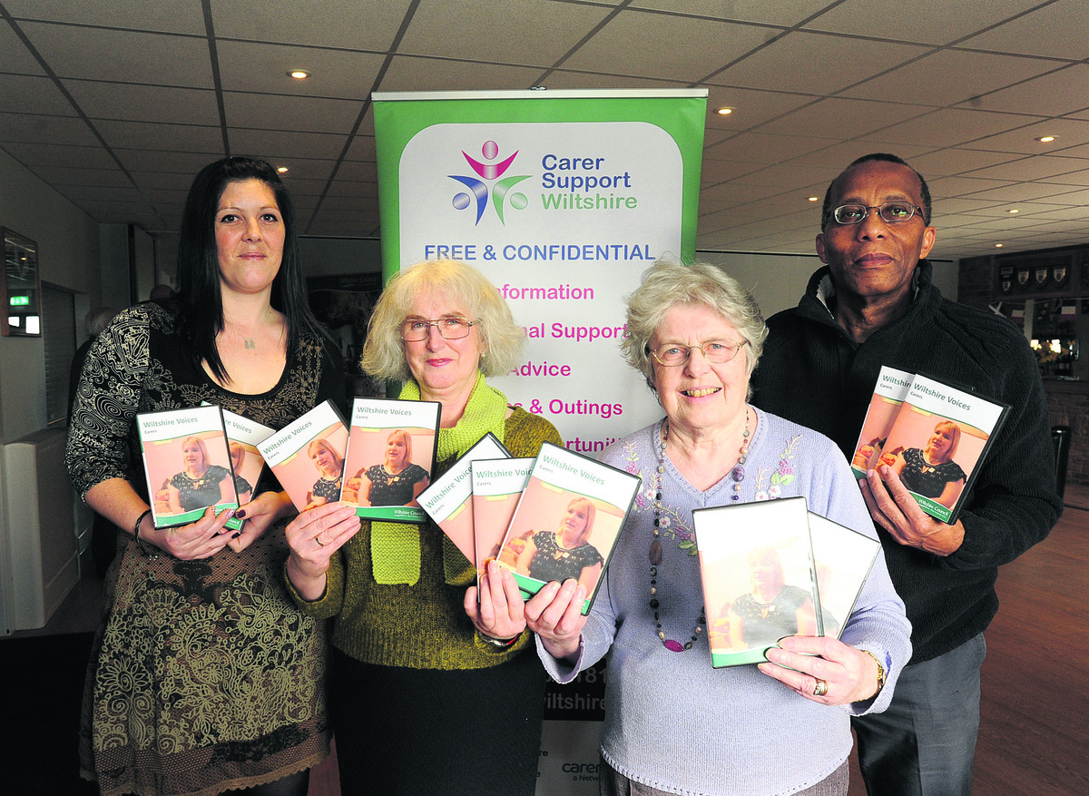 Carers who appear in the new Wiltshire Voices DVD, from left, Star Painter, Bev Conio, Margaret Greenman and Bob Selkridge