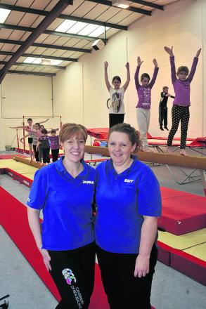 Coaches Janna Panter, left, and Suzy Creese at the Springboard Gymnastics Centre in Warminster                   Photo: Glenn Phillips (49149)