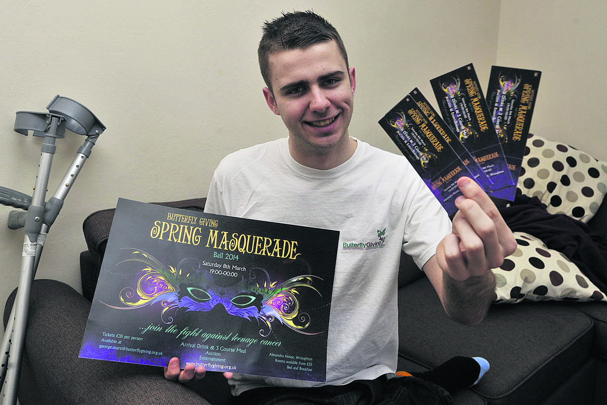 George Soars, 20, who is organising a masquerade ball in Wroughton in March for his charity