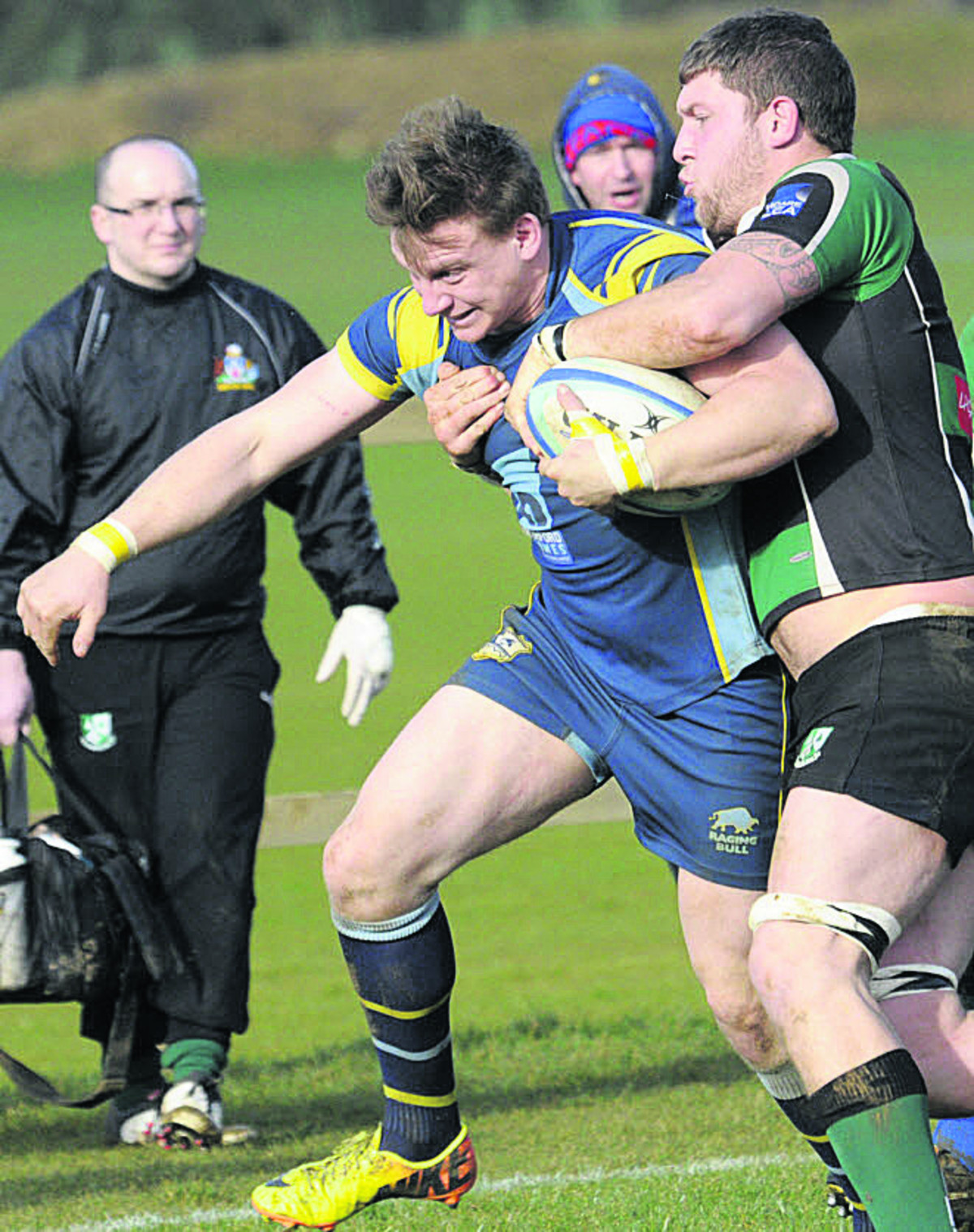 Trowbridge scrum-half Kyle Knight goes on the charge during Saturday's win over Ivybridge
