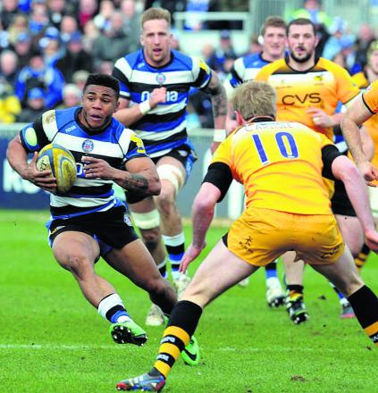 Kyle Eastmond comes into Bath's line-up to face Gloucester tomorrow