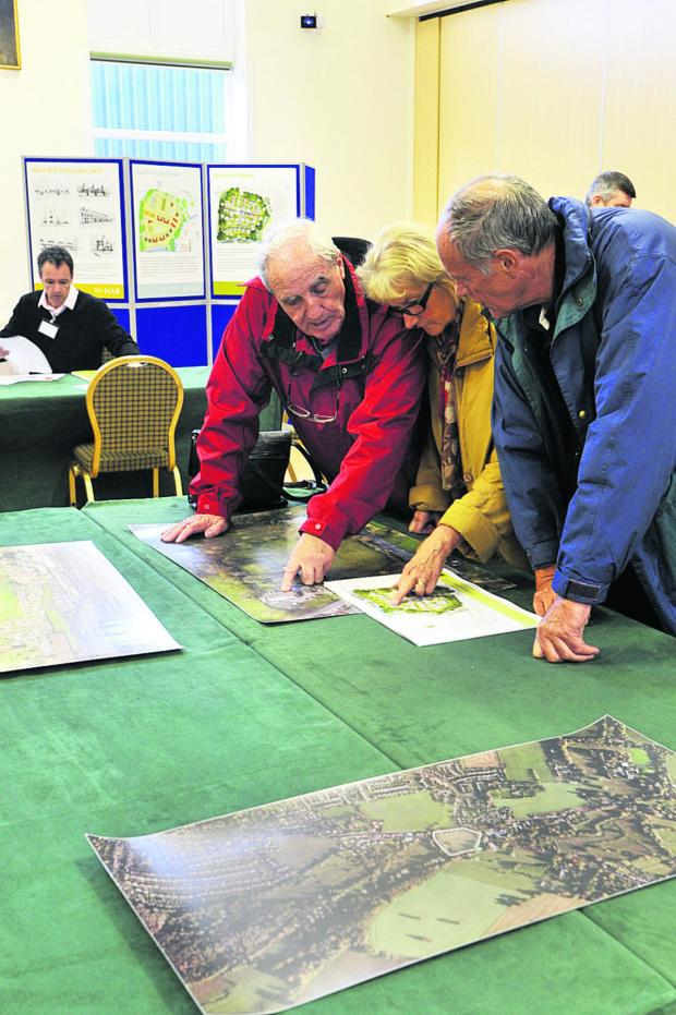 Wiltshire Times: George Jolley with Christine and David Sheppard from Westbury at the workshop